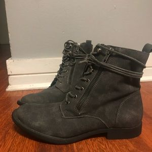 JustFab Gray Combat Booties